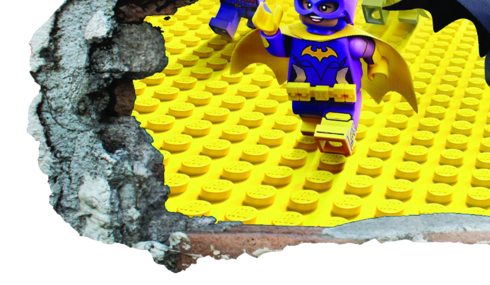 3D Lego Kids Smashed Wall Sticker Boys Girls Bedroom Decal Vinyl ...