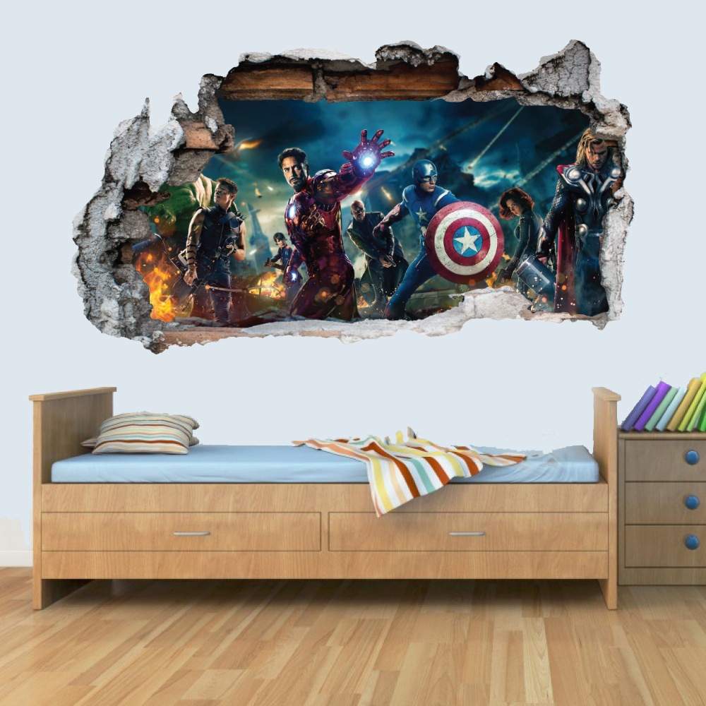 Marvel Avengers Vinyl Smashed Wall Art Decal Stickers