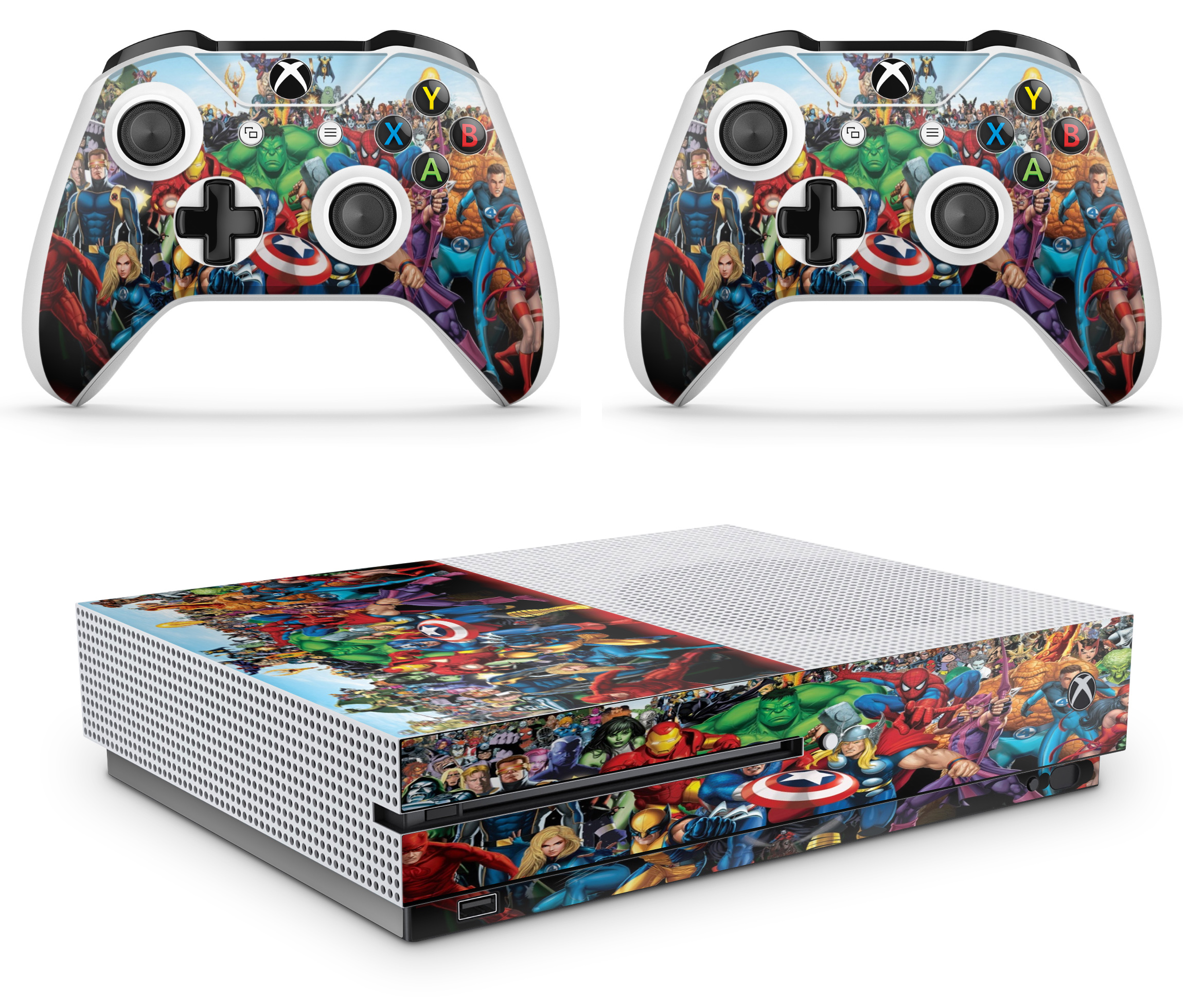 Xbox One S Console Skin Decal Sticker + 2 Controller Skins ...Xbox One Skins