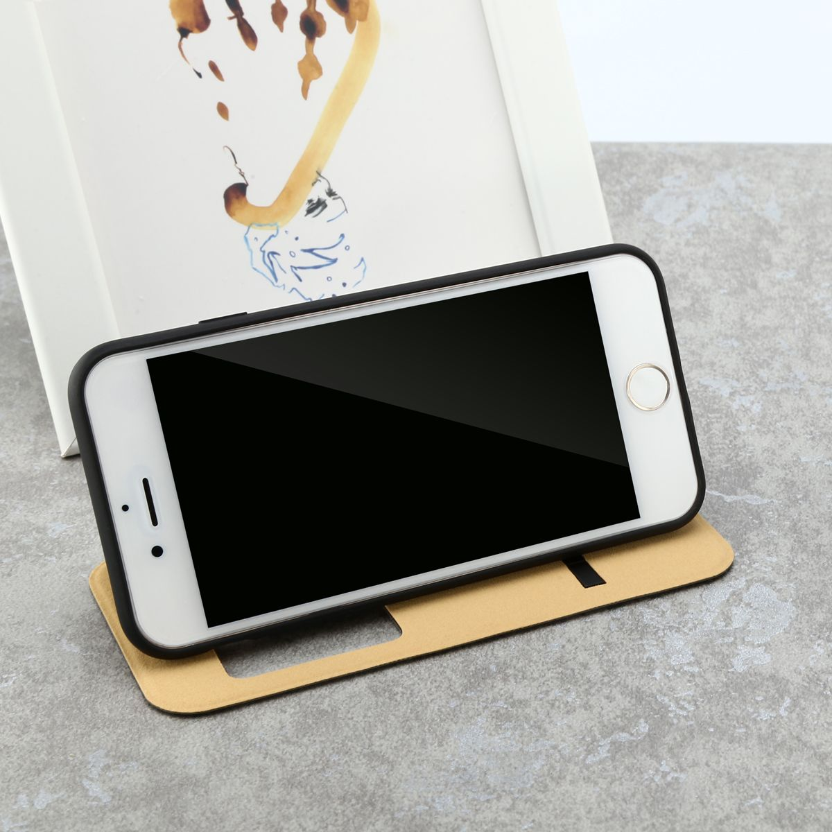 Baseus Terse Touch Faux Leather Case Flip Cover For Apple Iphone 7 Samsung Galaxy Note 5 Window View