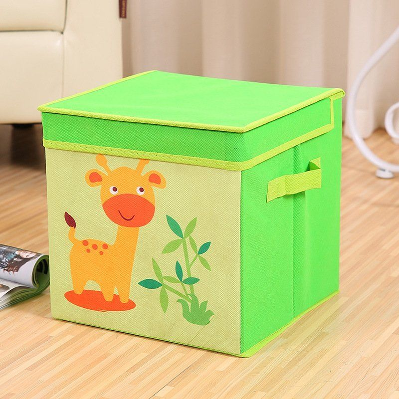 Square Collapsible Canvas Storage Box Foldable Kids Toys: Waterproof Collapsible Large Box Storage Pouch Basket