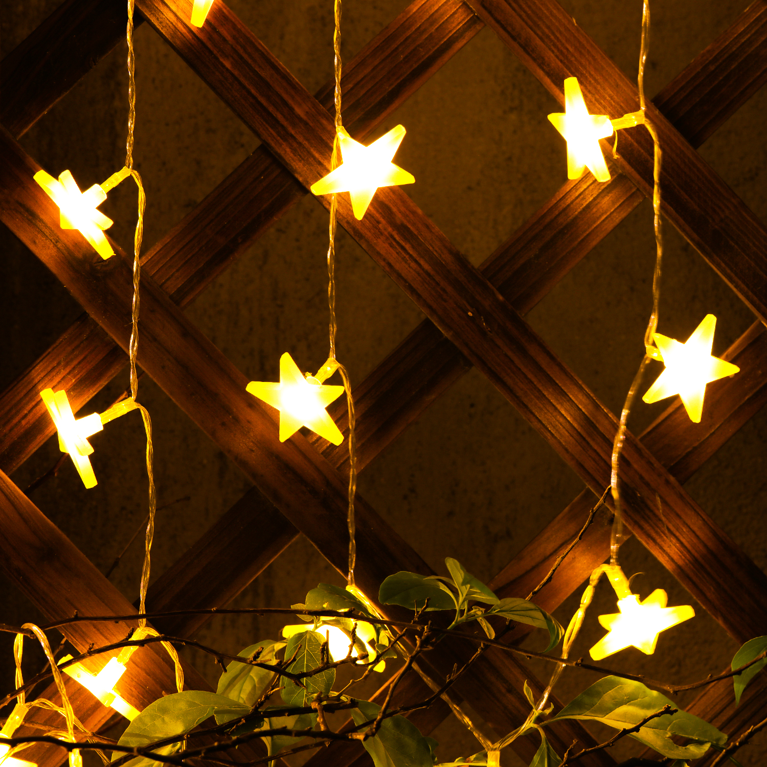 String Lights With Battery: 10ft 30 LED Lights Star Fairy Lights Battery Operated Star