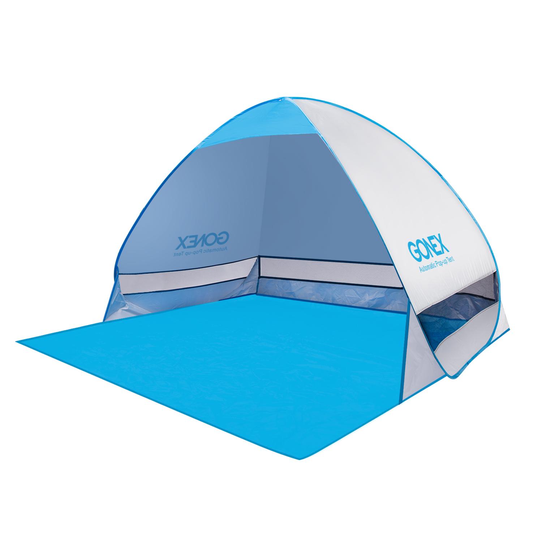 Portable Pop Up Beach Tent : Outdoor anti uv pop up instant portable cabana beach tent