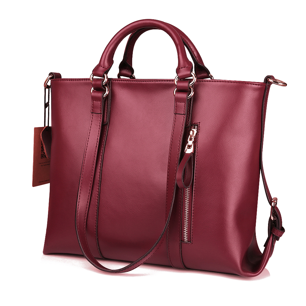 kattee women soft cowhide leather handbag shoulder messenger satchel bag tote ebay. Black Bedroom Furniture Sets. Home Design Ideas