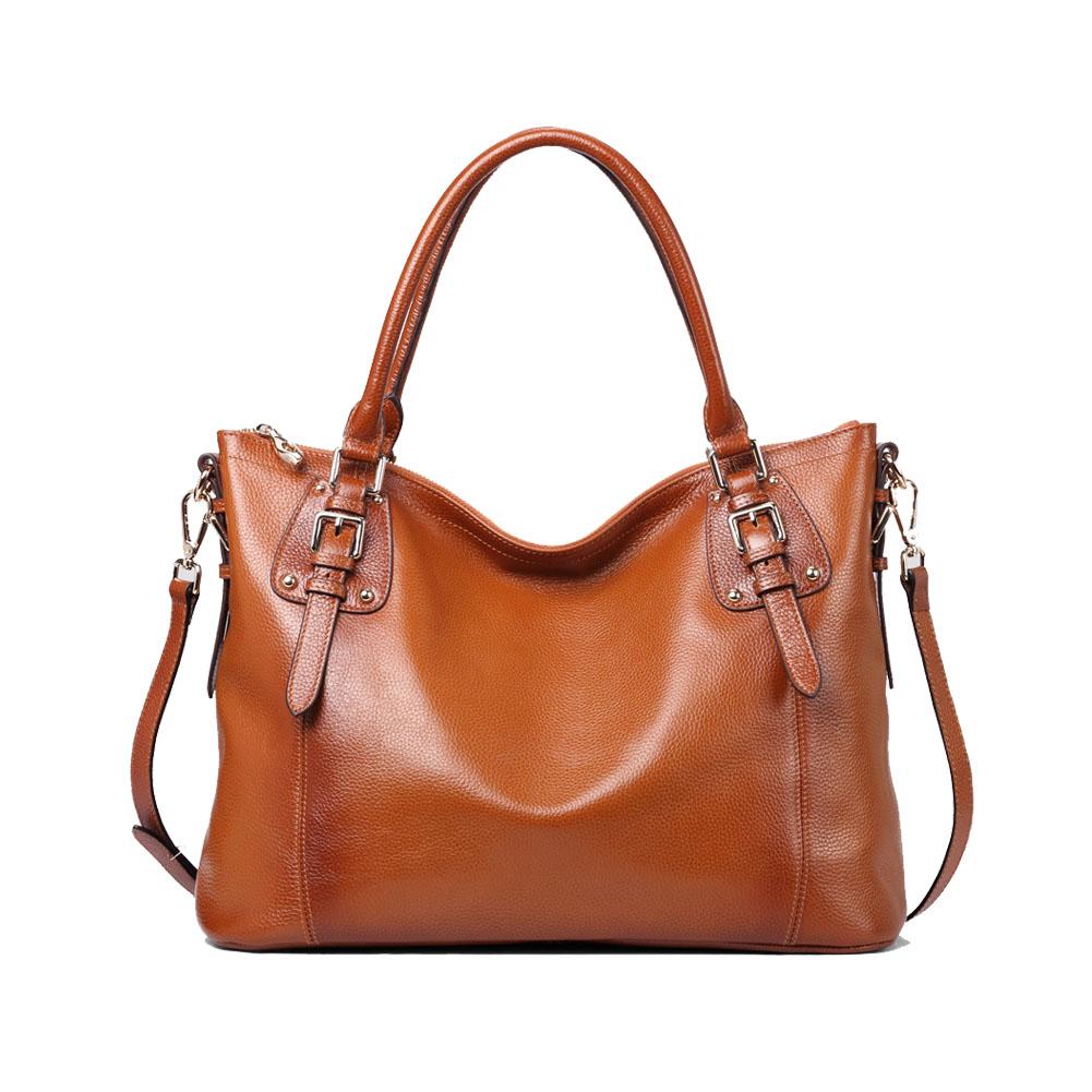 kattee women leather shoulder bag tote purse handbag. Black Bedroom Furniture Sets. Home Design Ideas