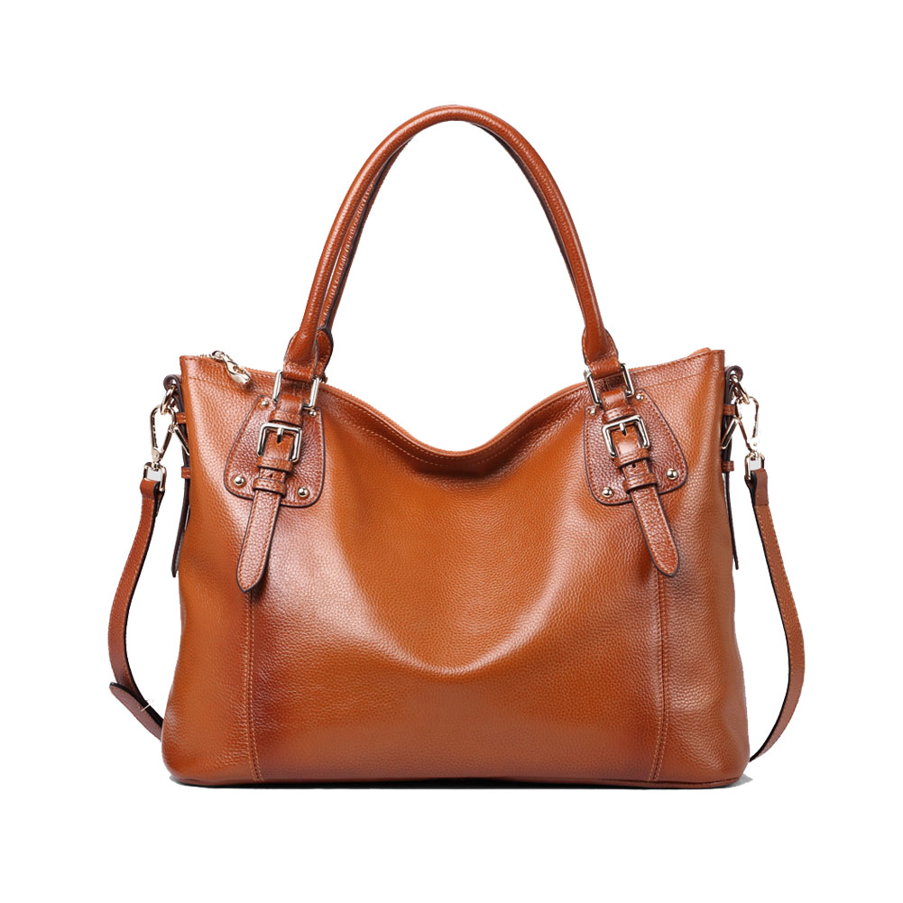 Kattee Women Leather Shoulder Bag Tote Purse Handbag ...