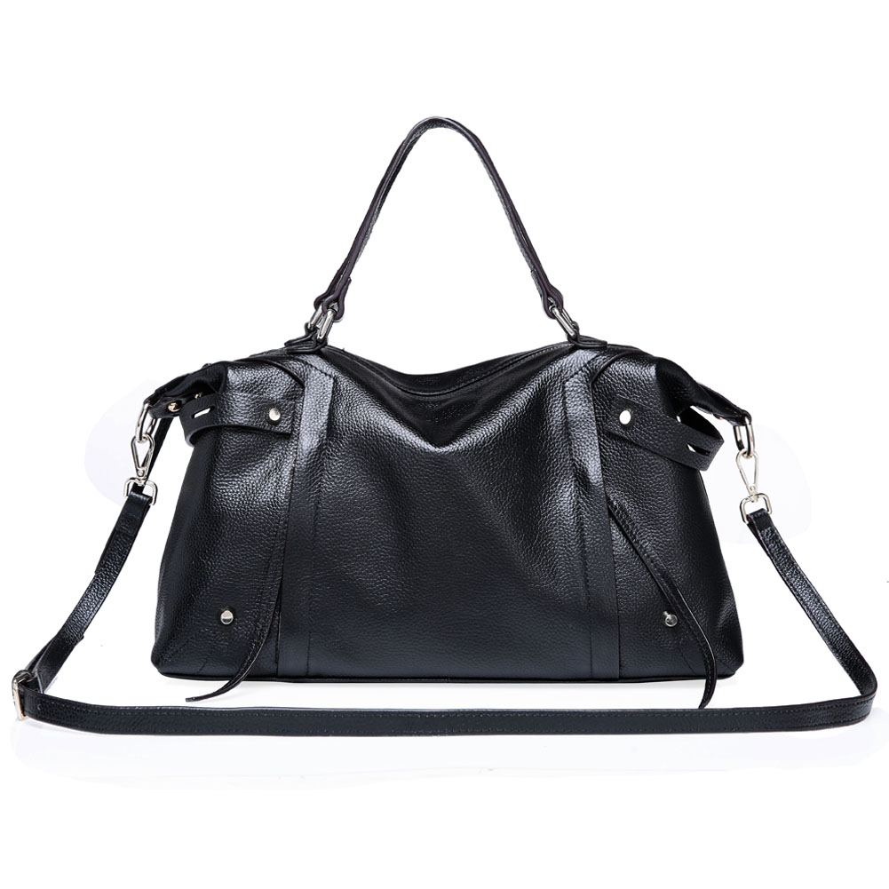 136c9956e3 Details about Kattee Fashion Ladies  Soft Cowhide Leather Tote Shoulder Bag  Fit 11.6