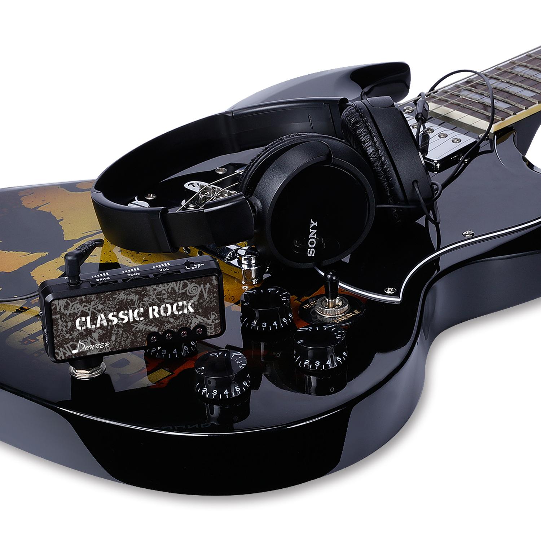 donner accustic electric guitar plug mini headphone amp amplifier classic rock ebay. Black Bedroom Furniture Sets. Home Design Ideas