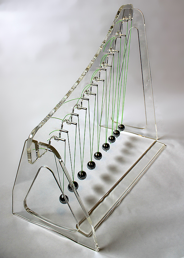 Deluxe Acrylic Pendulum Wave Demonstration Kit with Teacher's Guide