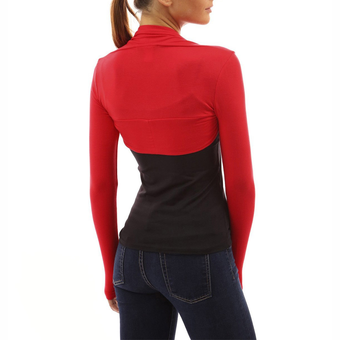 5b104d9902 Womens Plain Long Sleeves Cardigans Bolero Shrug Cropped Cardigan ...