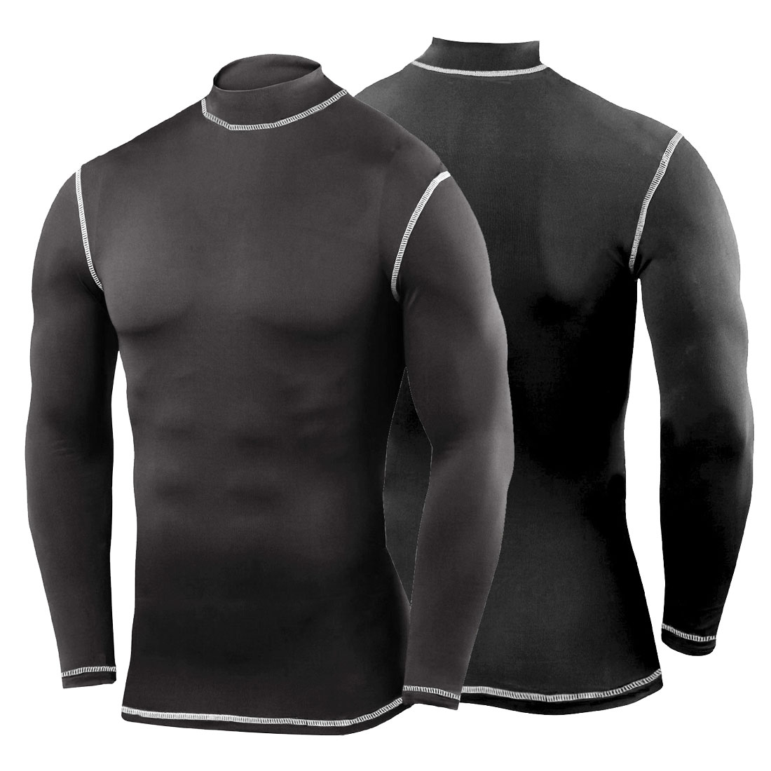 Black t shirt sports - Mens Compression Armour Base Layer Skin Gym Shirts