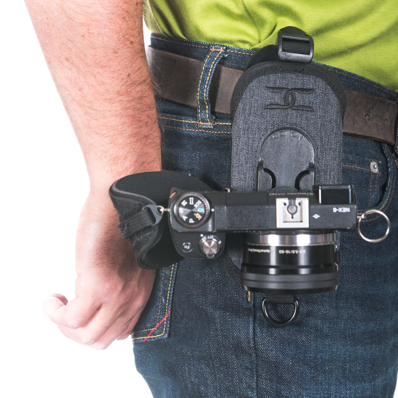 Gray Cotton Carrier CCS G3 Binocular and Camera Harness