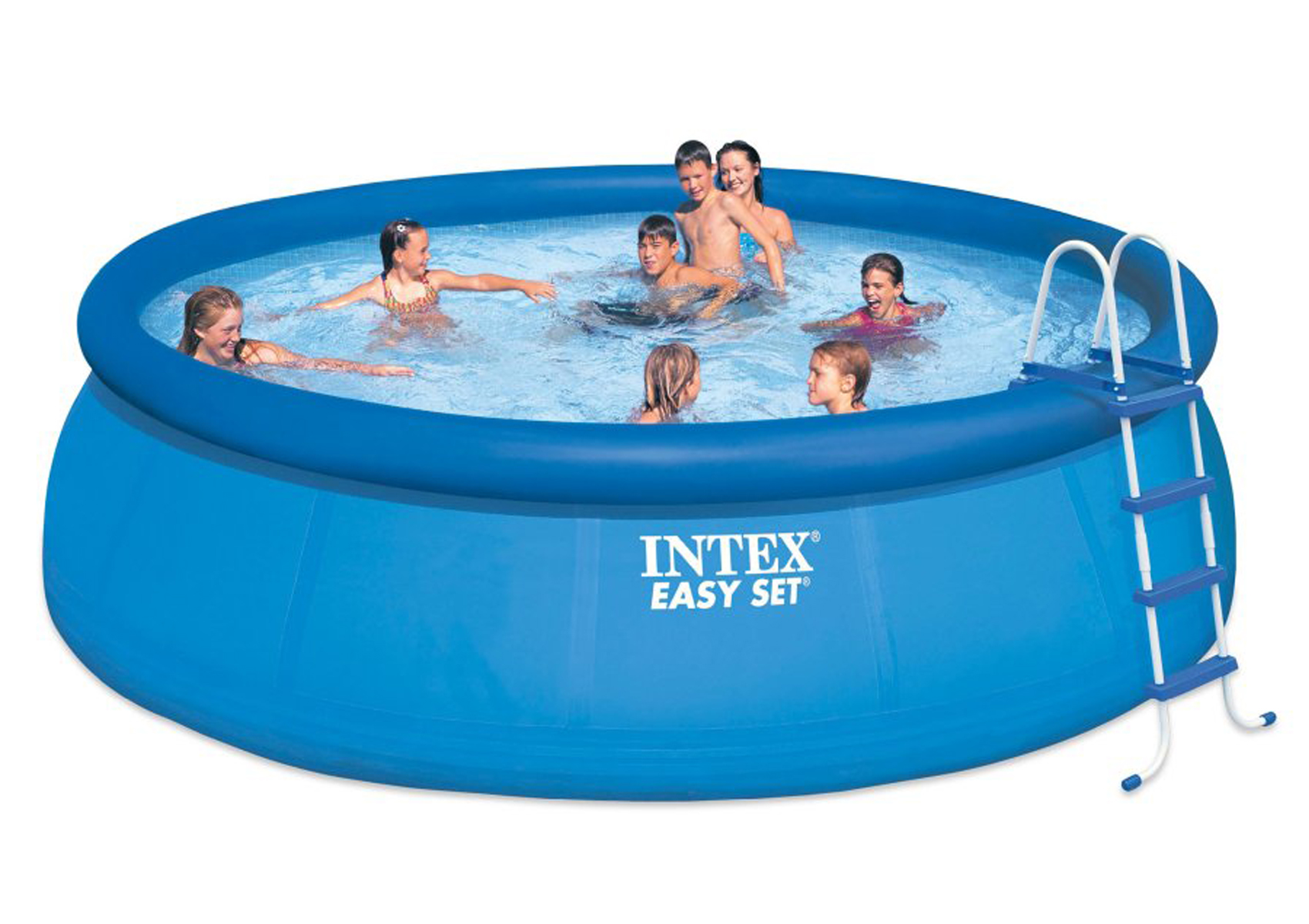 intex 15 39 ft round x 48 deep easy set above ground swimming pool model 28167eh ebay. Black Bedroom Furniture Sets. Home Design Ideas