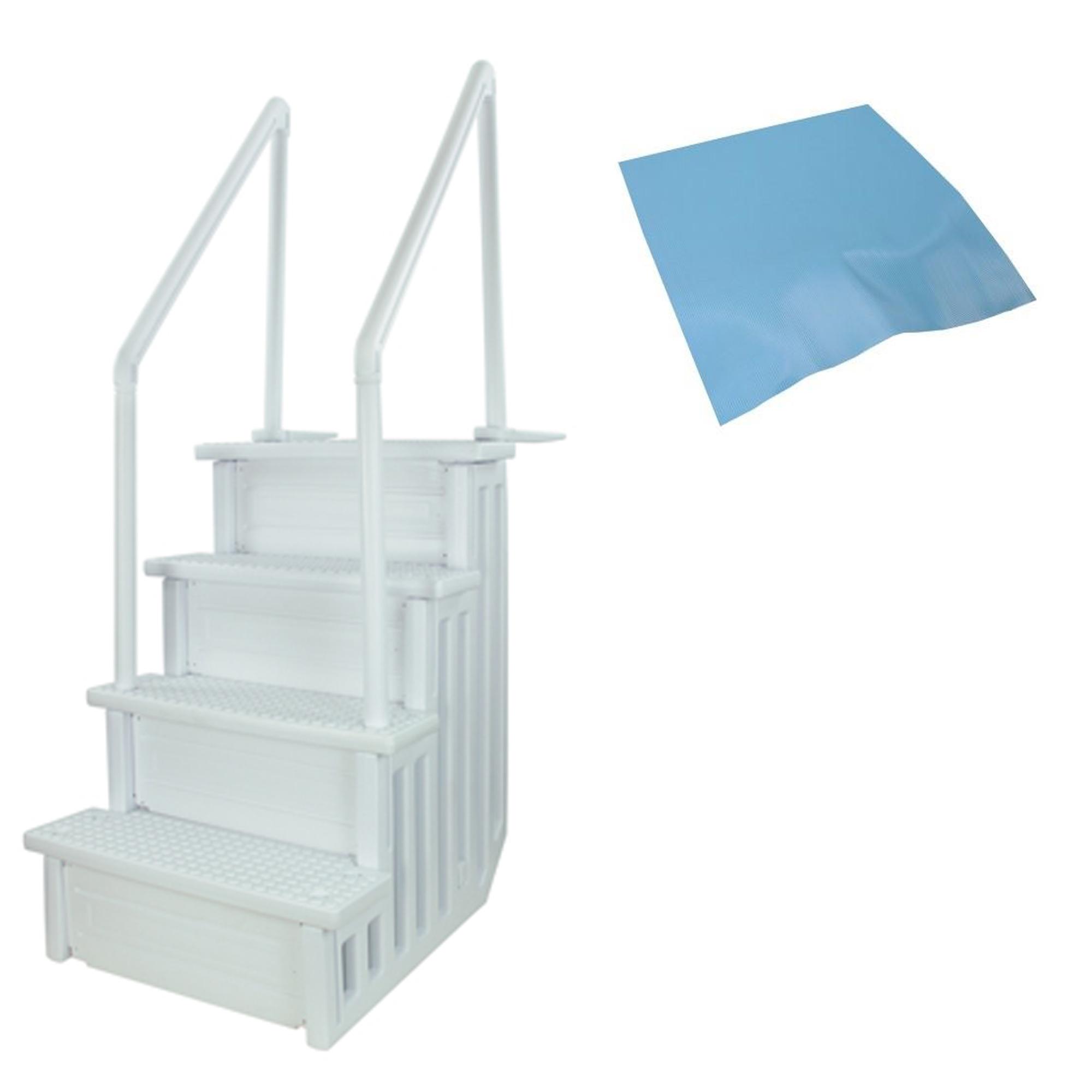 28 wide anti slip above ground swimming pool step ladder - Above ground swimming pool step pad ...