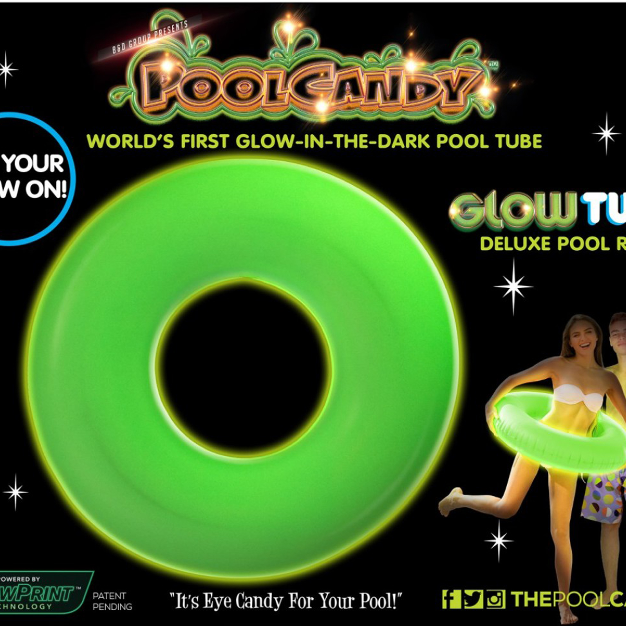 Pool candy swimming pool inflatable glow in the dark pool - Glow in the dark swimming pool toys ...