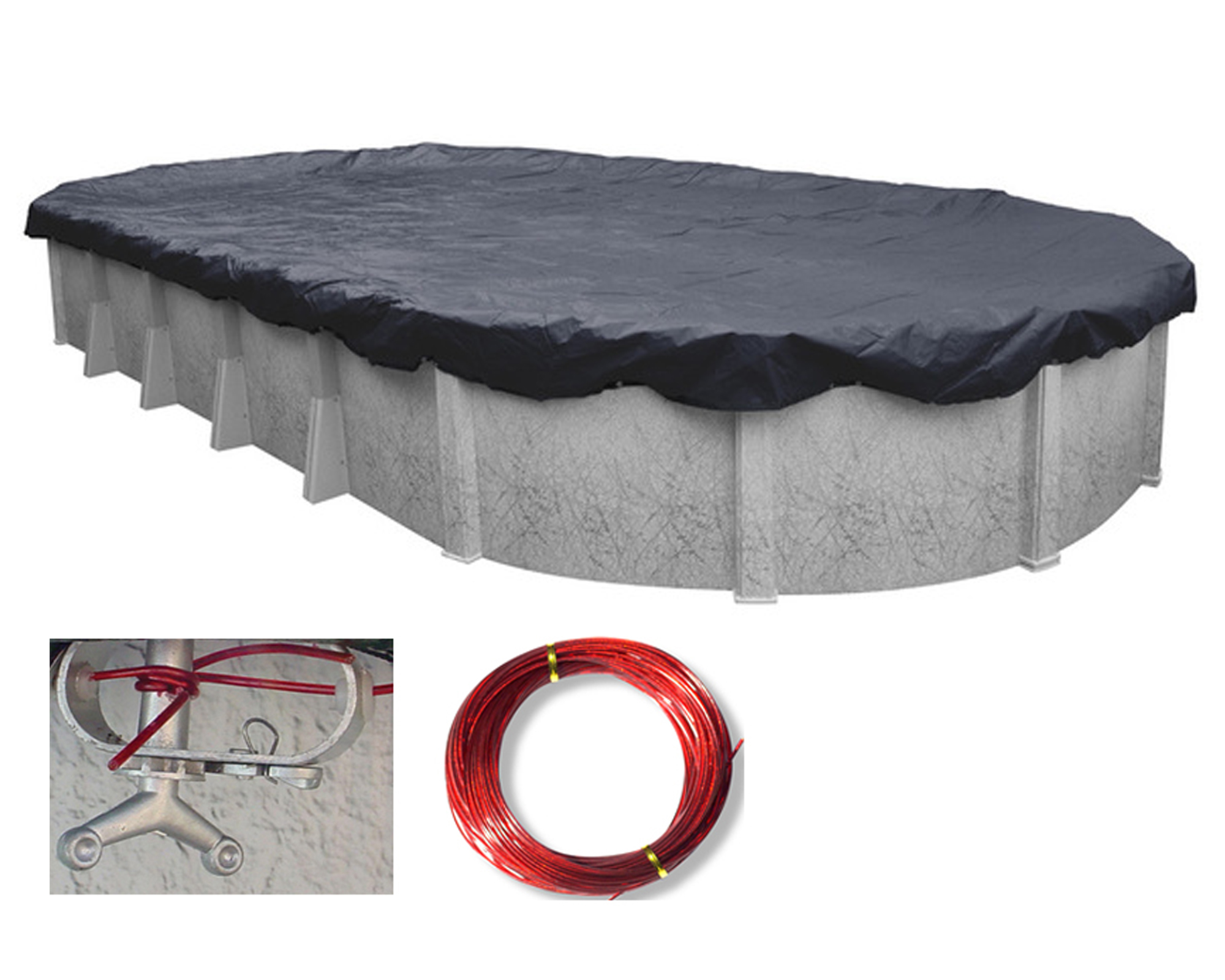 18x36 oval deluxe above ground swimming pool winter cover - Swimming pools covers above ground ...