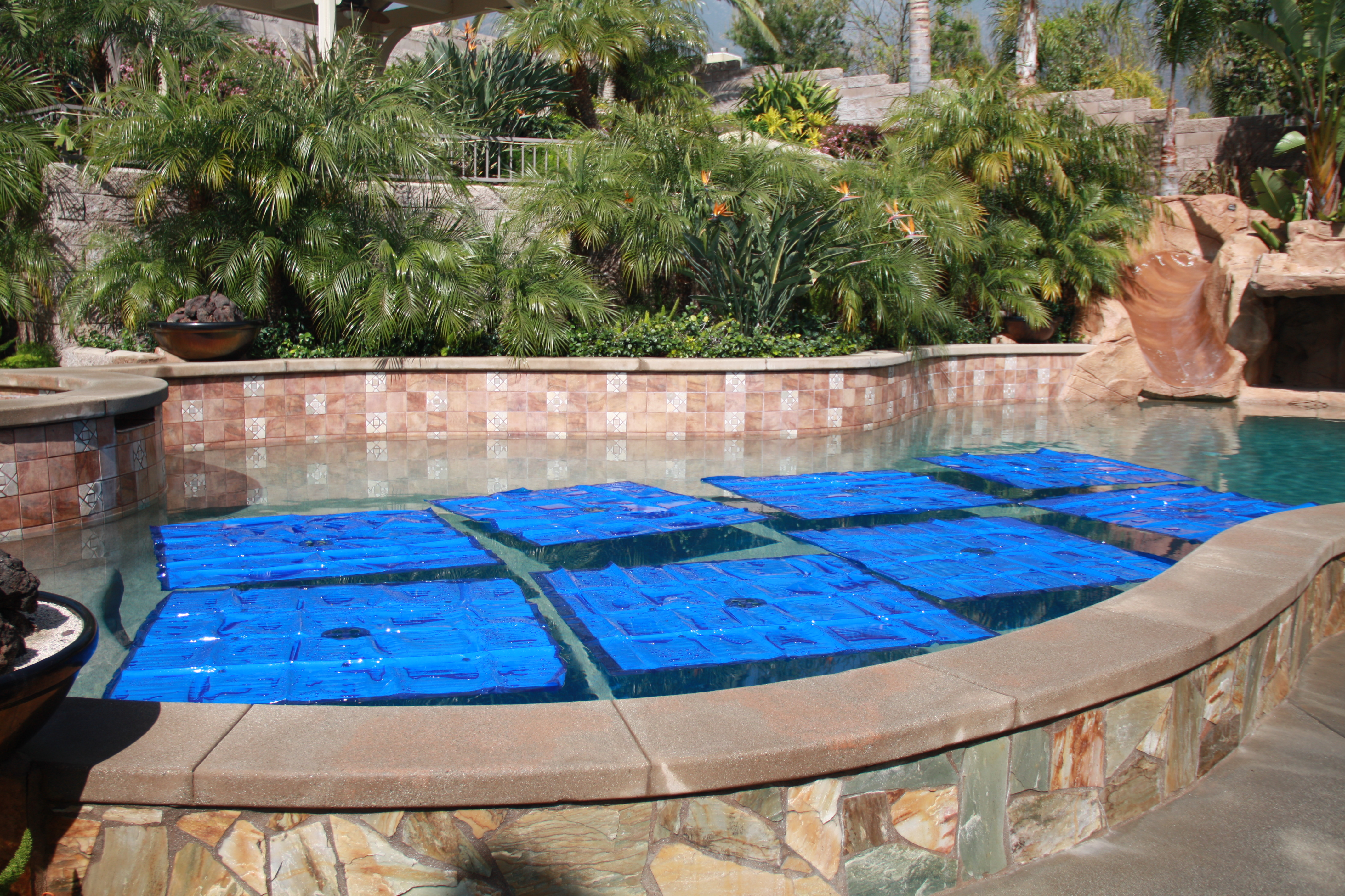 6 Pack Solid Blue Noair Heat Squares S 1254 Solar Swimming