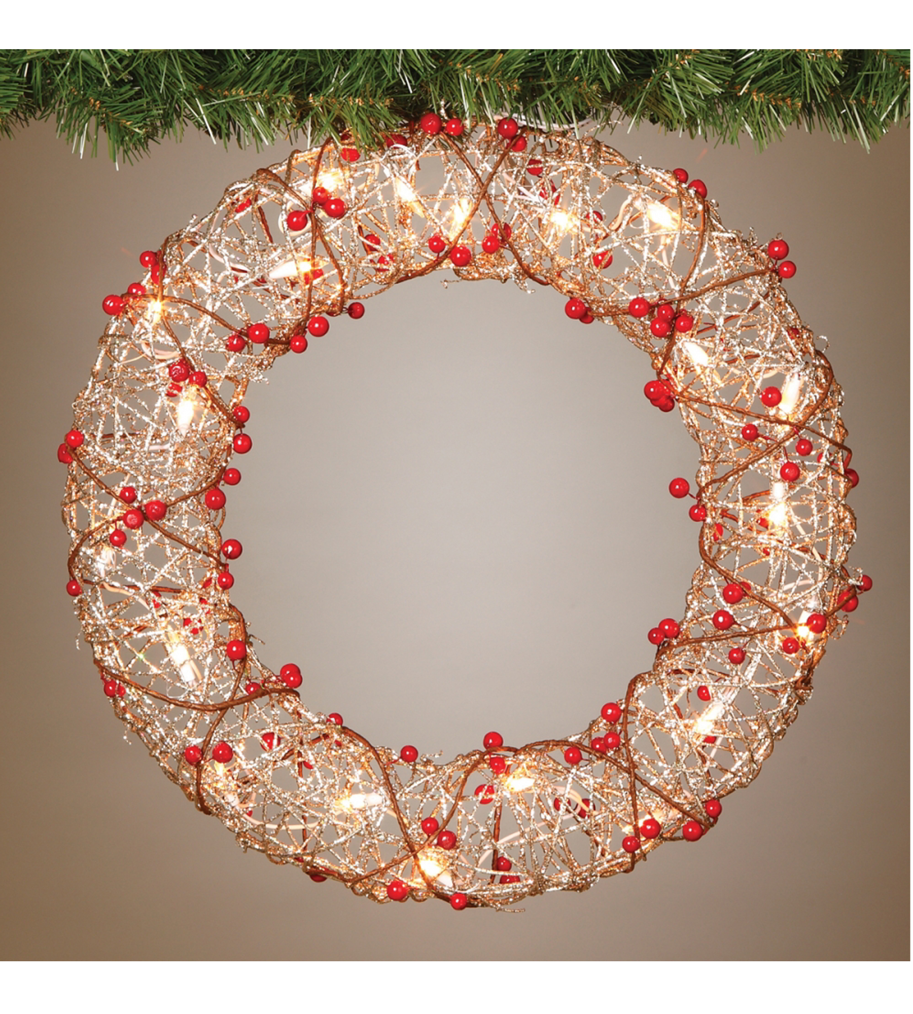 19 pre lit indoor outdoor champagne gold christmas wreath. Black Bedroom Furniture Sets. Home Design Ideas