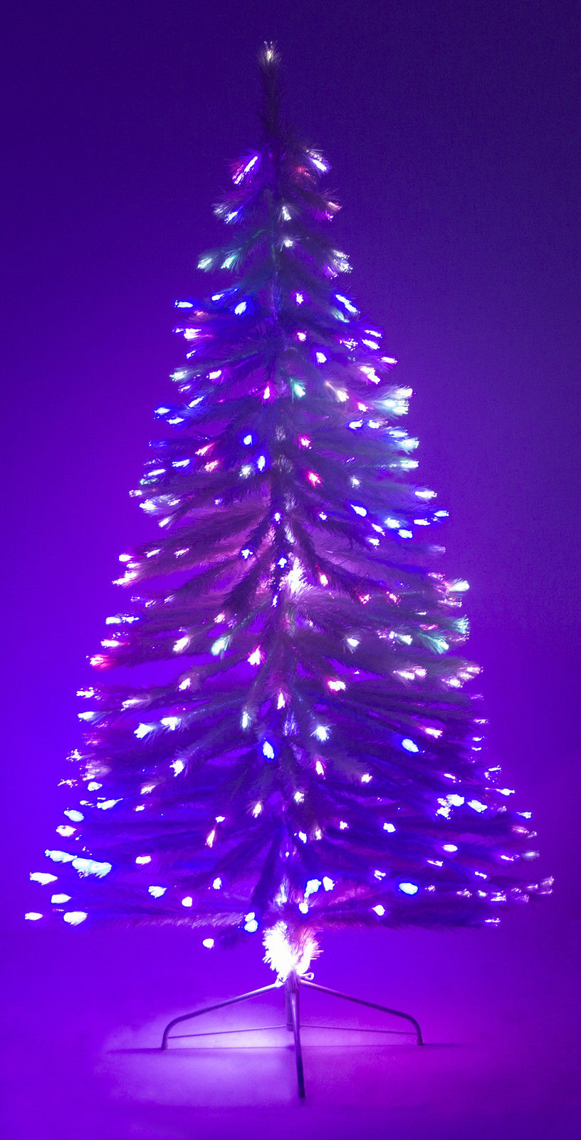 6' Ft White Artificial Holiday Christmas Tree w/ Fiber ...