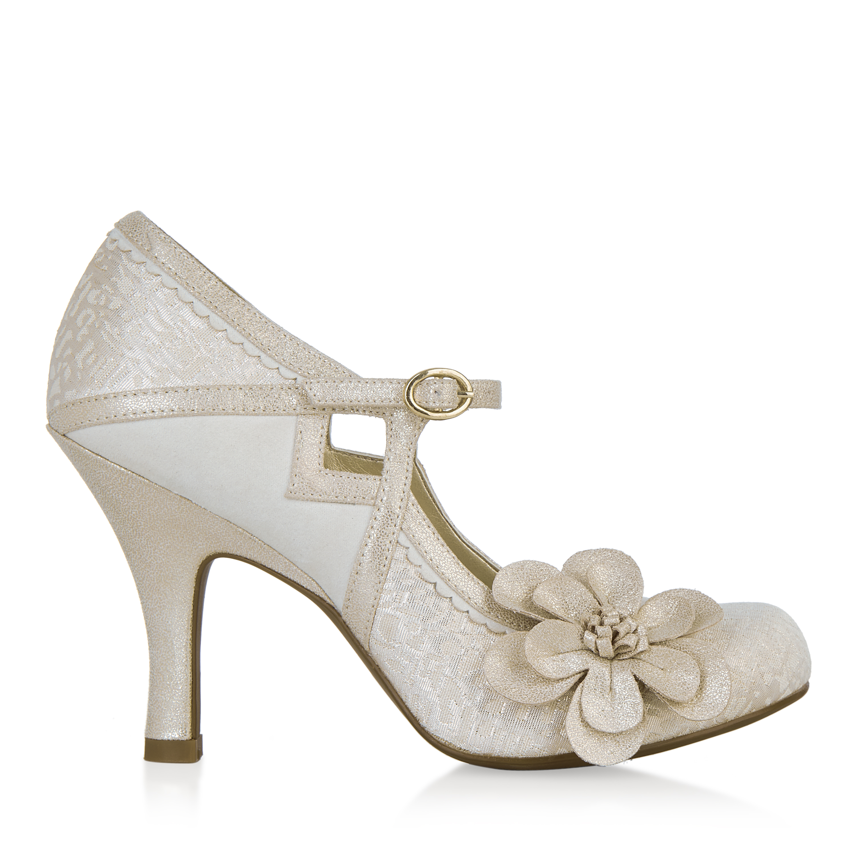 NEW Ruby Shoo Shoo Shoo Cindy Mary Jane Gold / Silver / Mint Gold UK3-9 EU36-42 Bridal 0969ec
