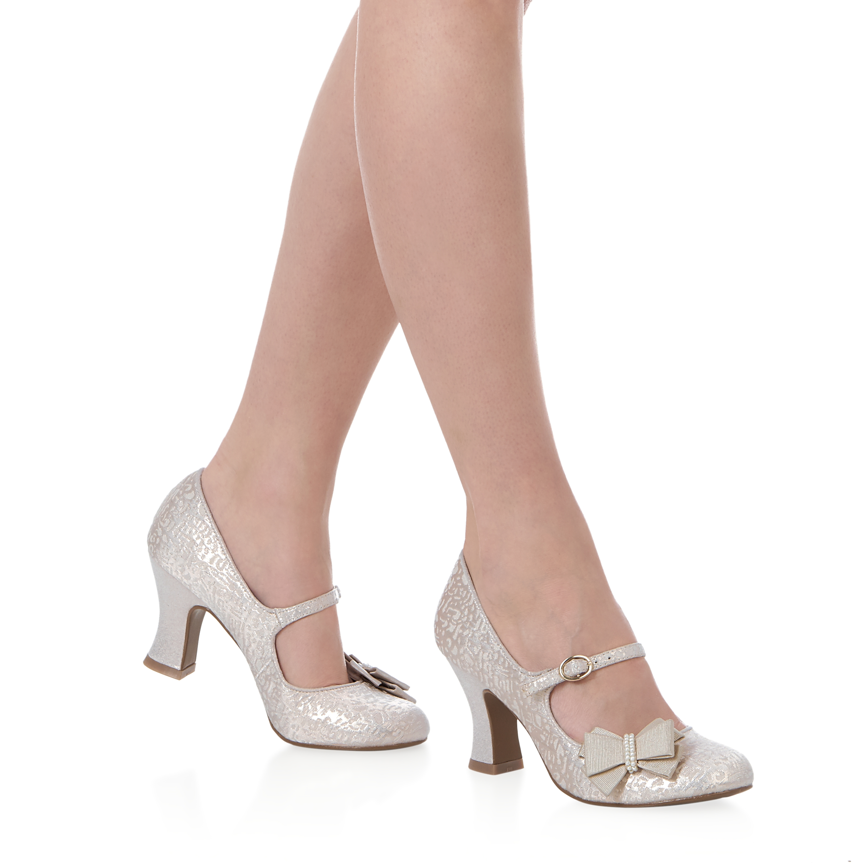5d27a0a42d8 NEW Ruby Shoo Celia Bow Shoe Low Heel Mary Jane Gold Black UK3-9 ...