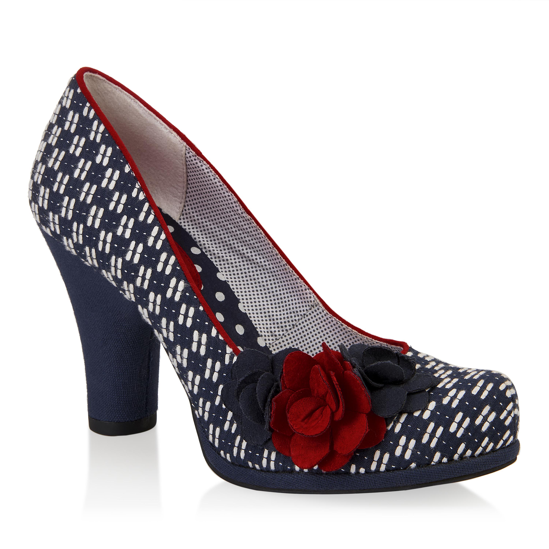NEW Ruby Shoo Eva Court Shoes Noir Navy Red Sand Black Petrol / Sky Blue  UK3; Picture 2 of 5 ...