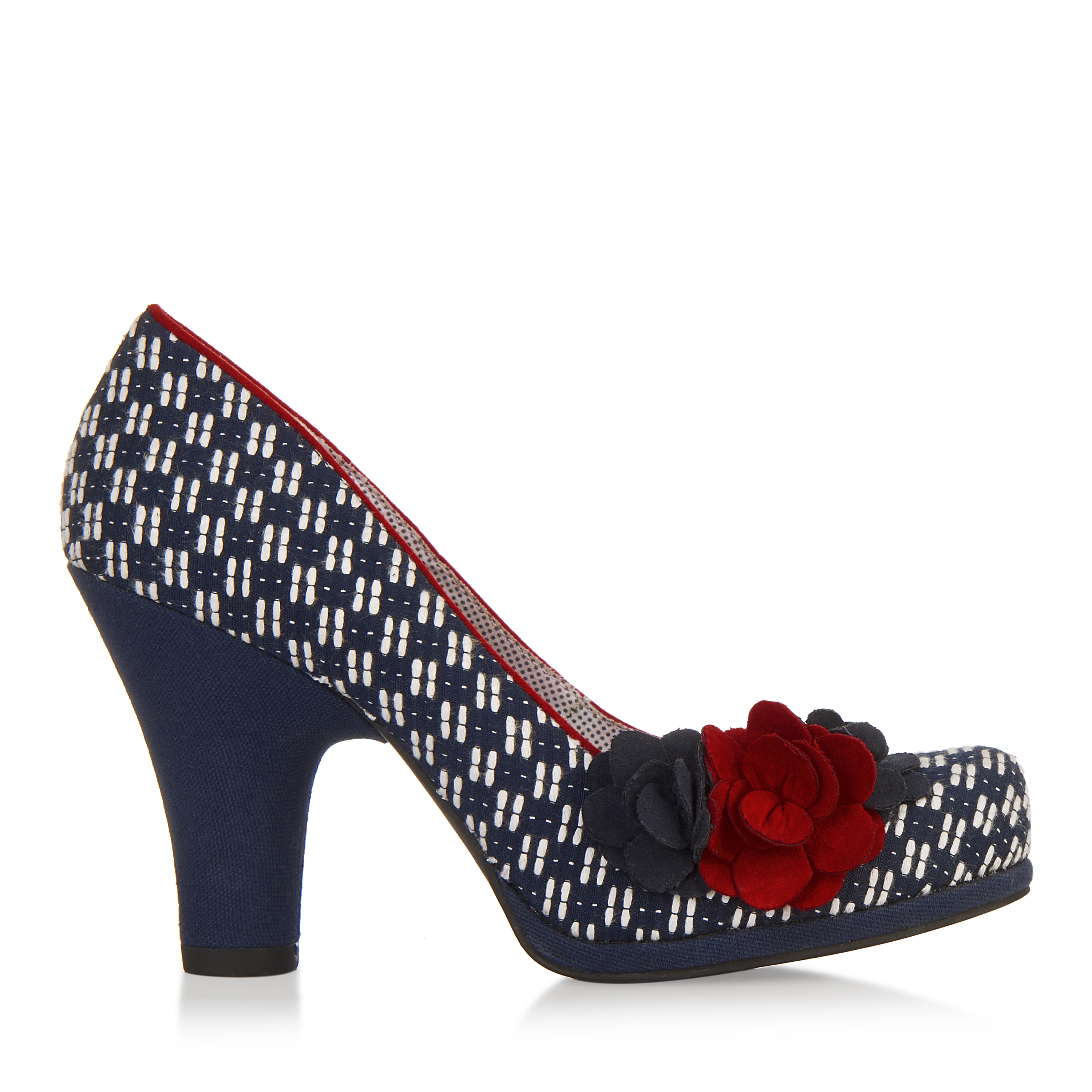 cdd64e91952 Details about NEW Ruby Shoo Eva Court Shoes Noir Navy Red Sand Black Petrol  / Sky Blue UK3-9