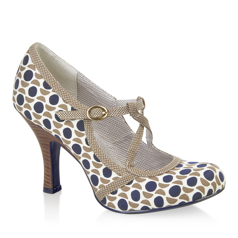 NEW Ruby Shoo Edie Mary Jane Shoes Stone Navy / Mint UK3-9 EU36-42 Bridesmaids