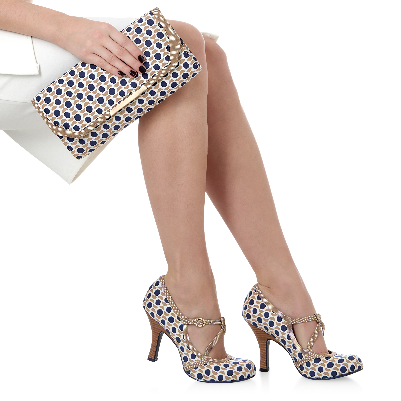 Ruby Shoo Edie Matching Mary Jane Pumps & Matching Edie Torino Bag Mint Green / Stone ae0339