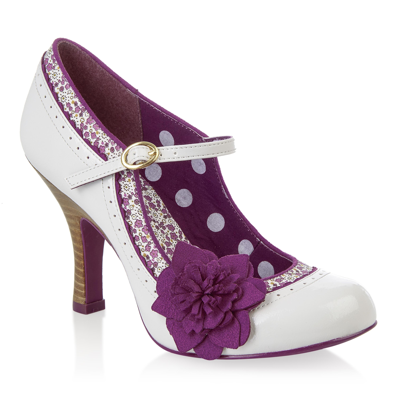 Ruby Shoo Poppy Schuhes Sz 3- 9 Blau Pink / Mink Beige Patent Occasion Mary Jane