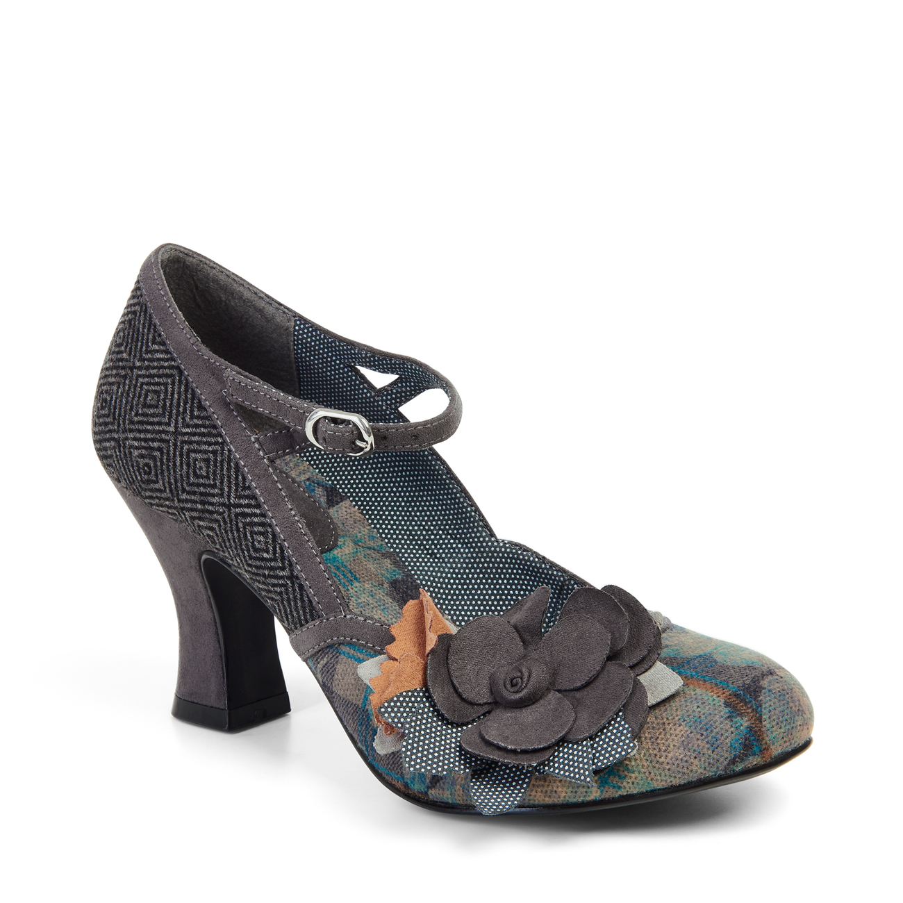 Ruby Shoo Dee Mid Heel Mary Jane Pumps Floral 3-9 36-42 4 Colours