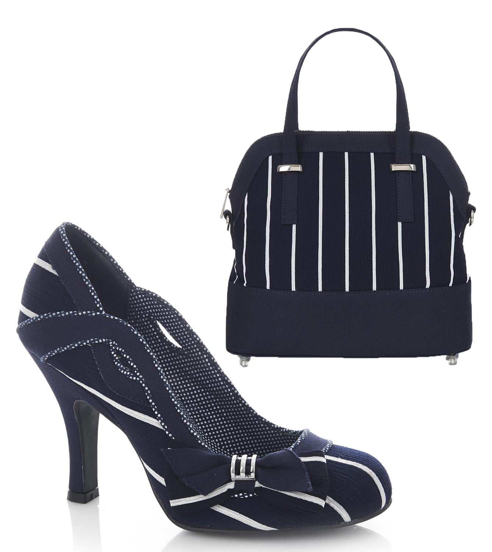 Ruby Shoo NEW Miranda Black stripe high heel women/'s court shoes sizes 3-9