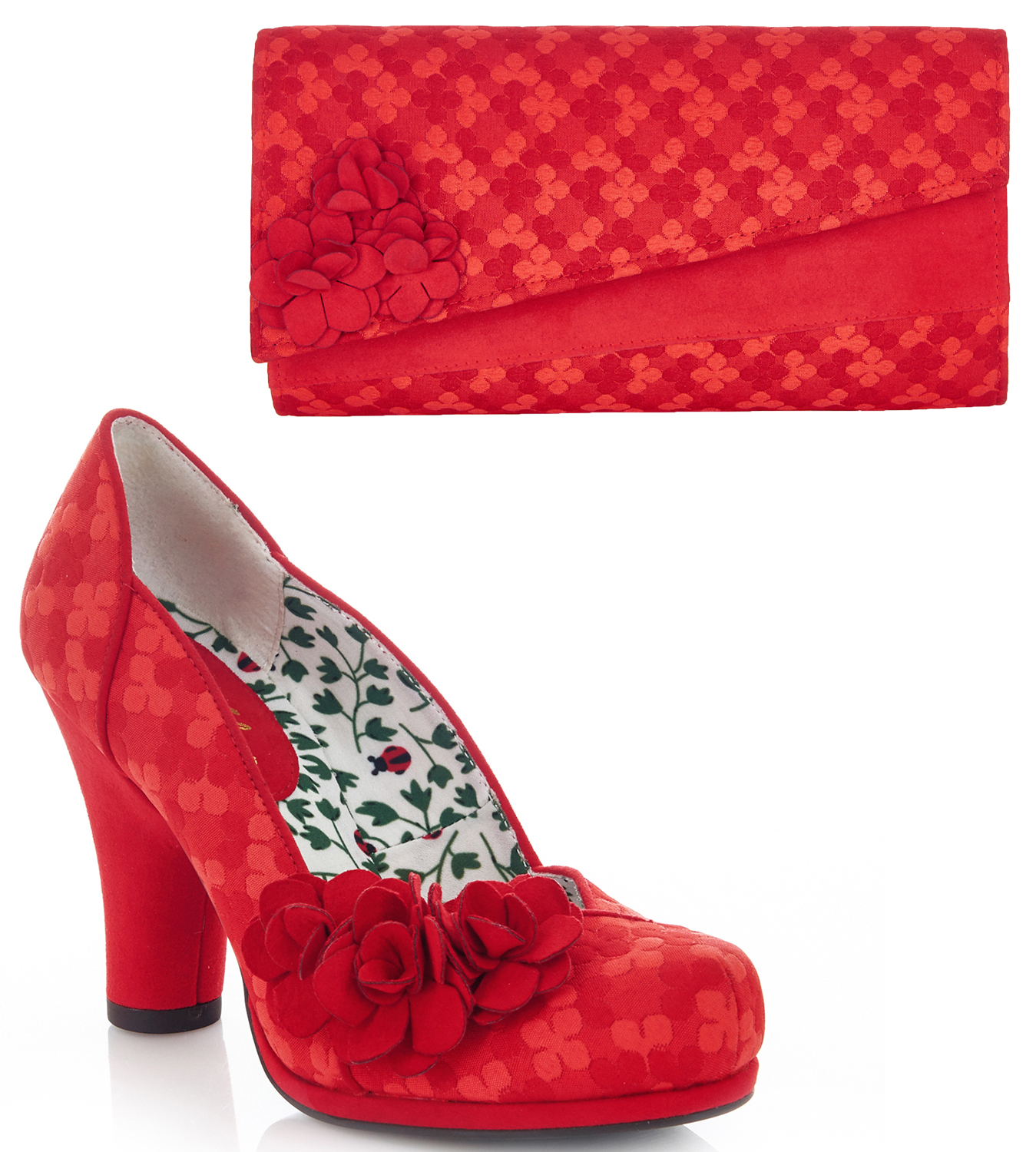 Ruby Shoo Charlotte High Heel Court Schuhes Matching & Matching Schuhes Oxford Bag UK3-9 36-42 91cc52