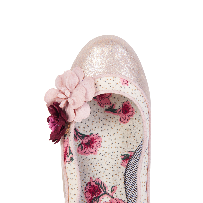 Ruby Shoo Viola Floral Mid Heel Floral Viola Trim Corsage Court Schuhes UK 3-9 Navy Champagne 91d959