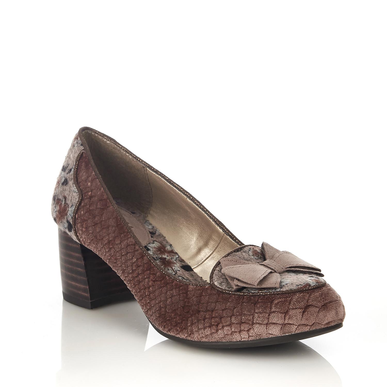 Ruby Shoo Thalia Bow Niedrig Heel Kobe Court Schuhes & Matching Kobe Heel Bag UK 2- 9 685a2c