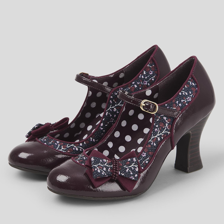 Ruby Shoo Camilla TACCO ALTO MARY JANE TG TG TG EU 35-42 Nero Blu Scuro Borgogna 76456b