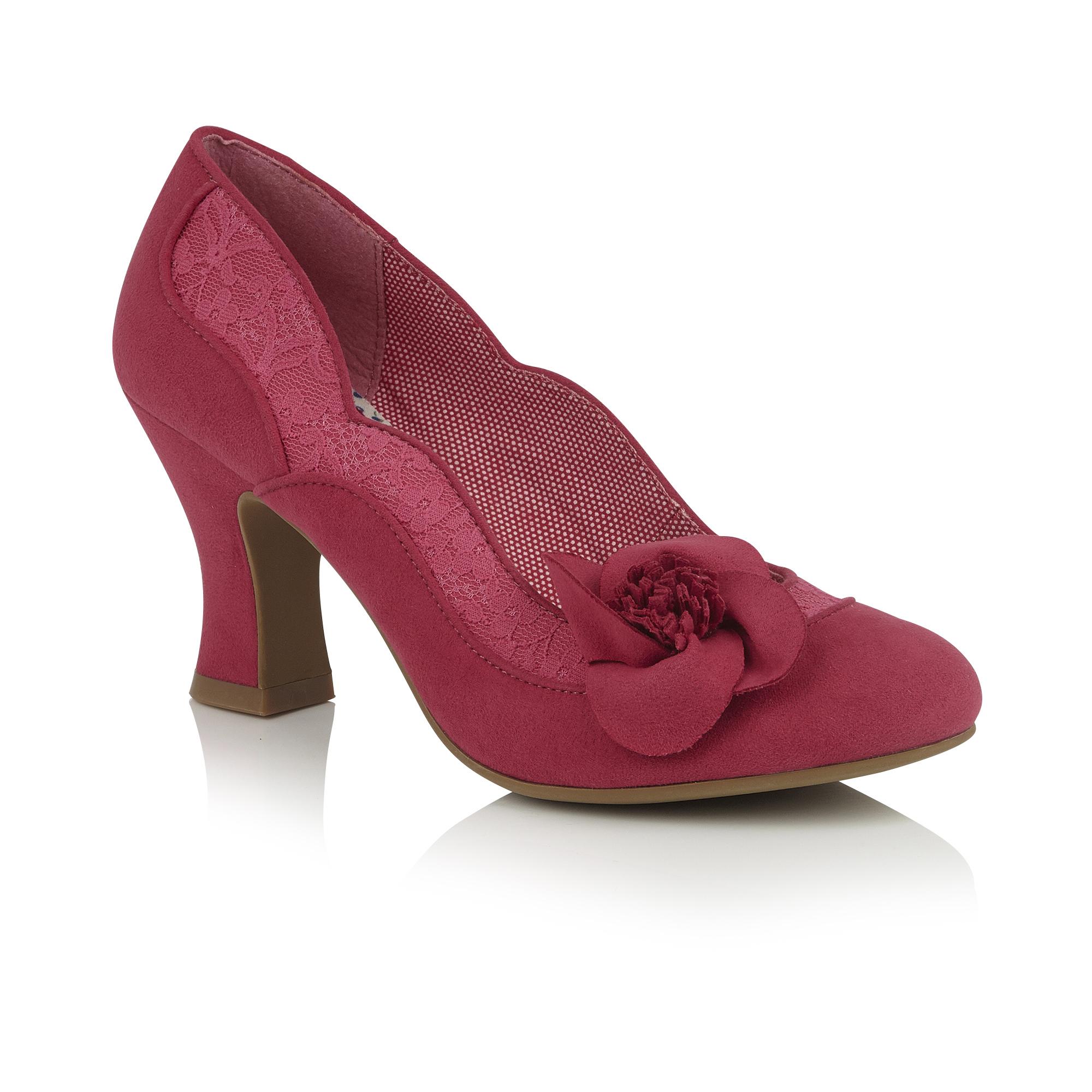 5ba871a31203 Ruby Shoo Veronica Fuchsia Pink Lace Corsage High Heel Court Shoe 3 ...