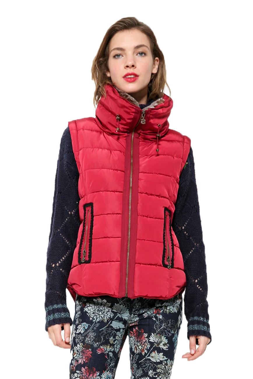 Desigual Pune Coat Padded Warm Winter Puffa Jacket 36-46 UK8-18 £109 Black White