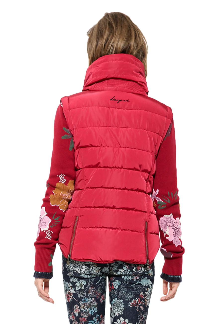 Red Jacket Removable 18 36 Sleeves Gilet £139 8 Puffa Rrp Coat Uk Desigual Salva 46 RHT66OZ
