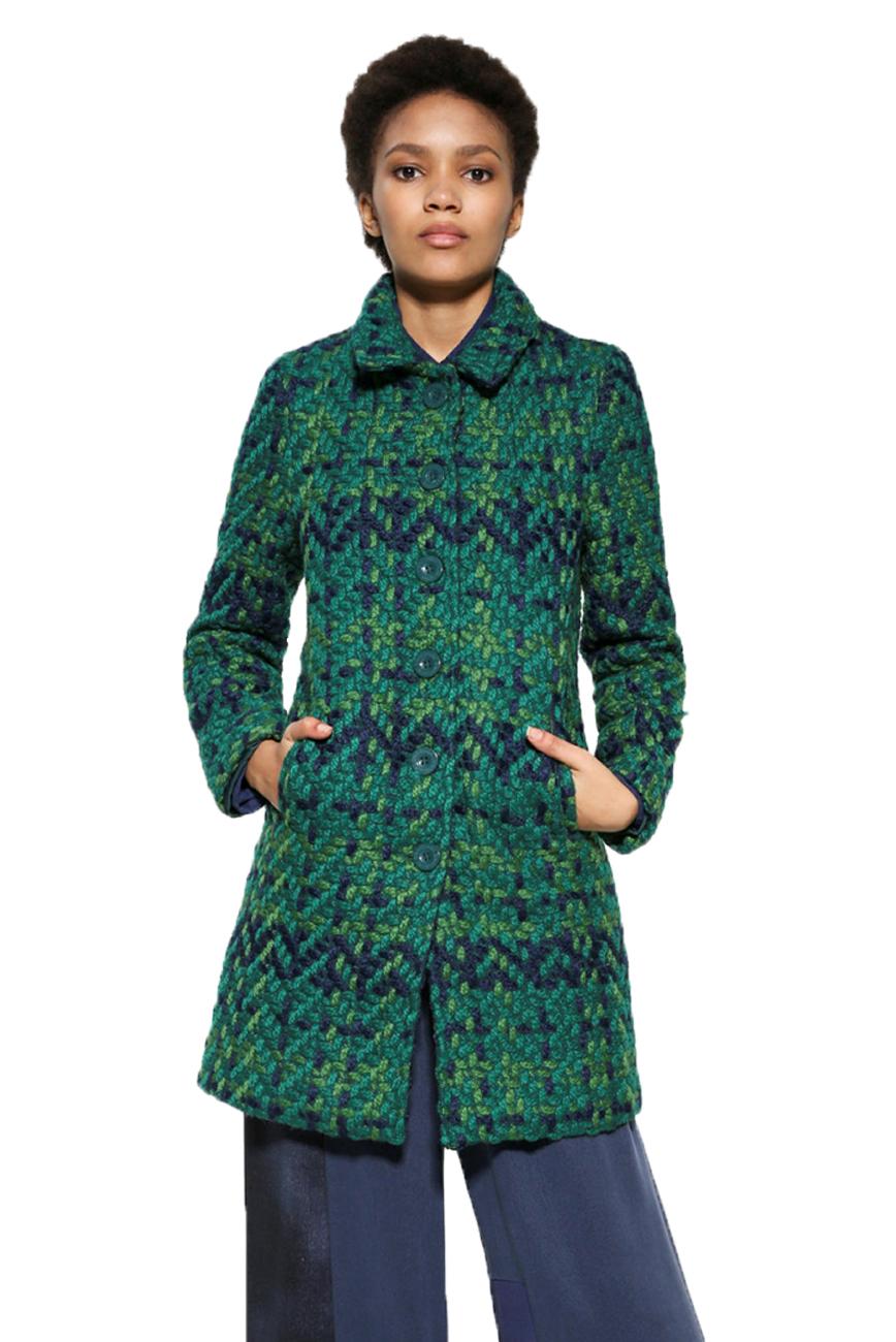 18 Shape 8 36 Woven Desigual £184 Coat 46 Uk Green Nini Rrp Classic 8q4qCw7
