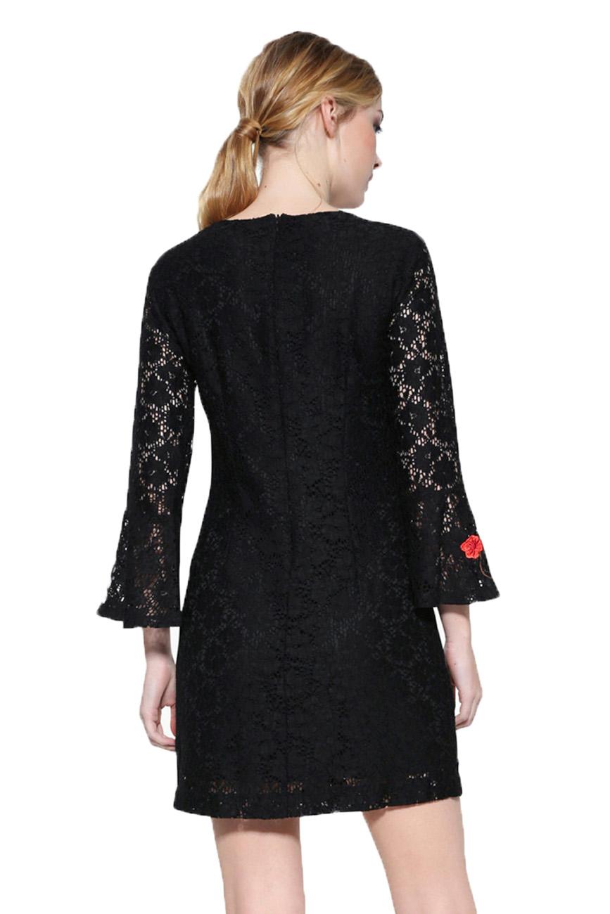 Desigual Black Lace Long Sleeved Vermond Dress 34-46 UK 6-18 RRP �109