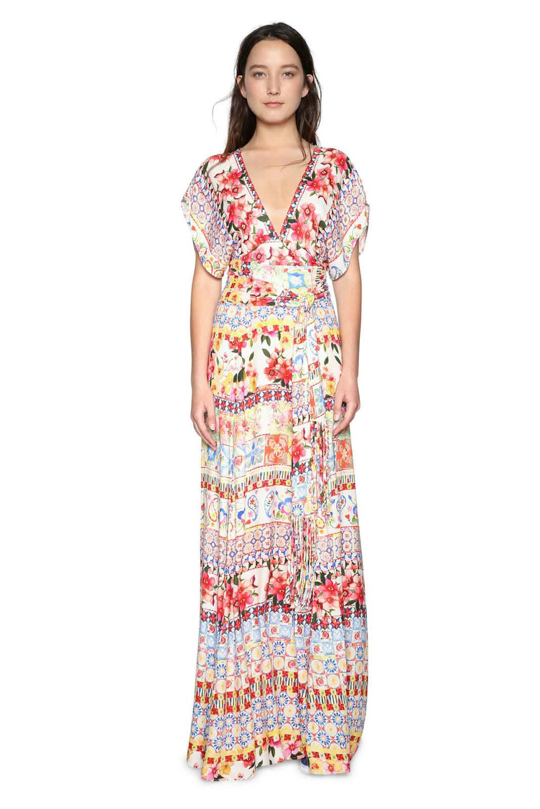 Desigual 8 Rrp Dress 18 Brigitte 36 Uk Beautiful Floral 46 Maxi n0OmN8wv