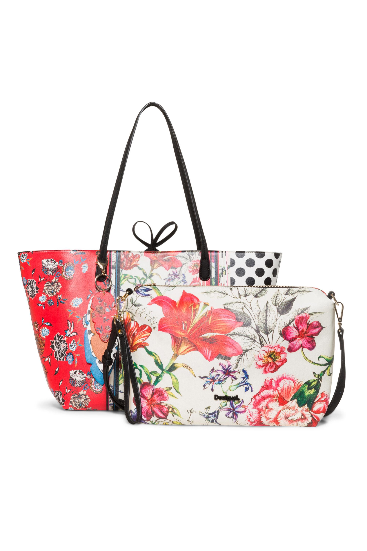 Details about Desigual Triptch Capri No Rev Bag Reversible Shopper & Small  Bag RP£74 Floral