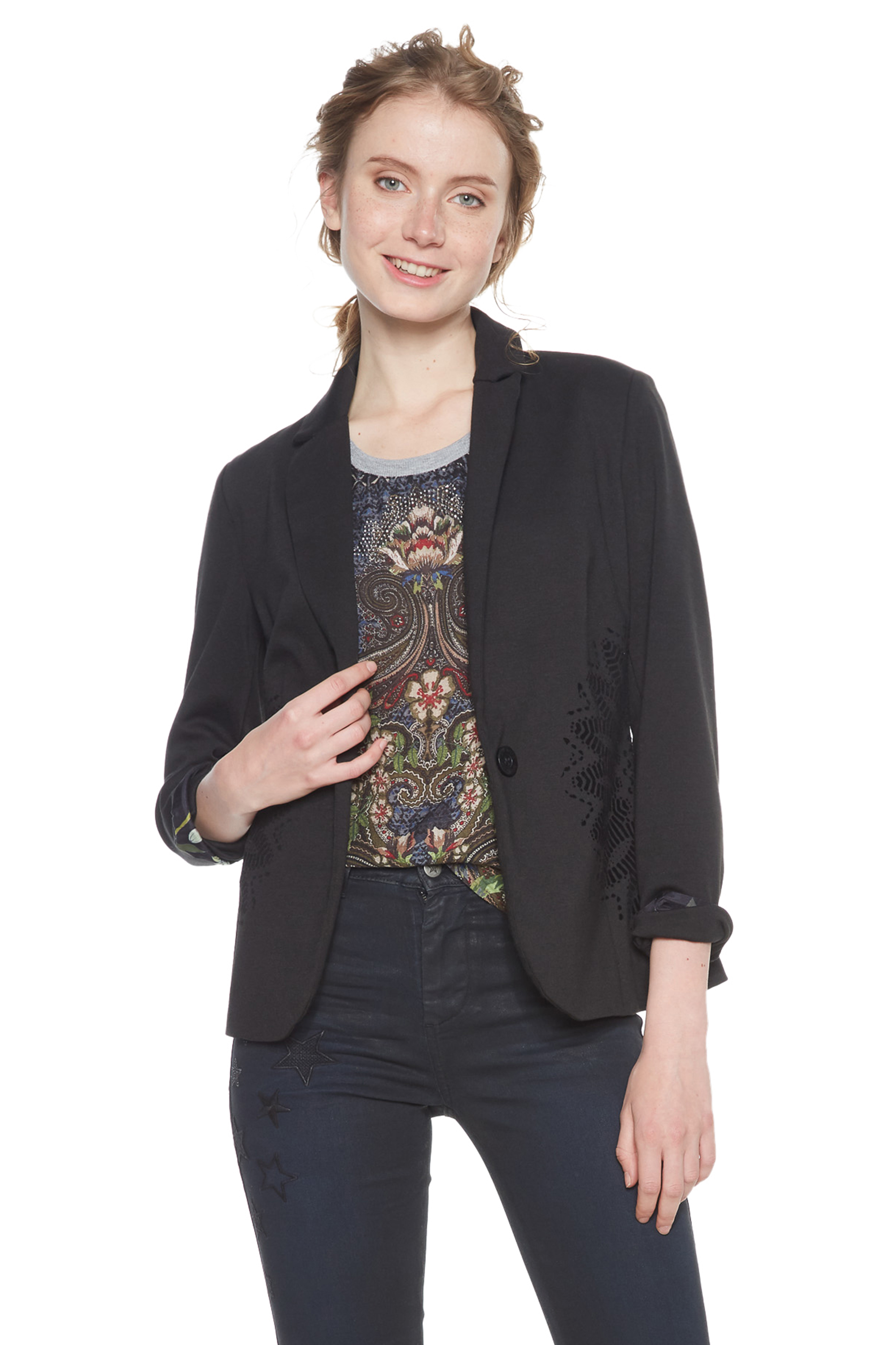 Columbus Black 18 Grey 36 Jacket 46 Mandala Smart Rrp£74 Black Desigual grey Blazer Uk8 Bgqxqpw