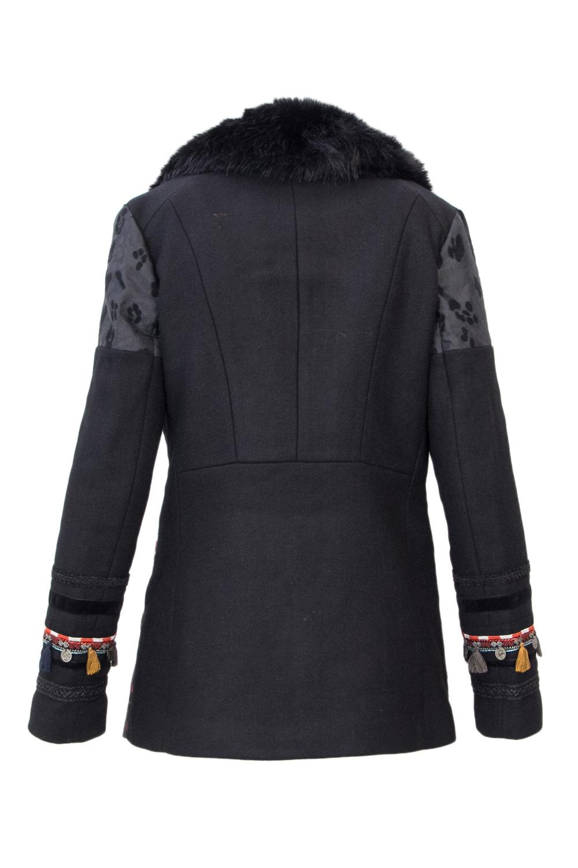 Desigual Washington Jacket Brocade Bottom Tassle Arms 36-46 UK8-18 RRP£269