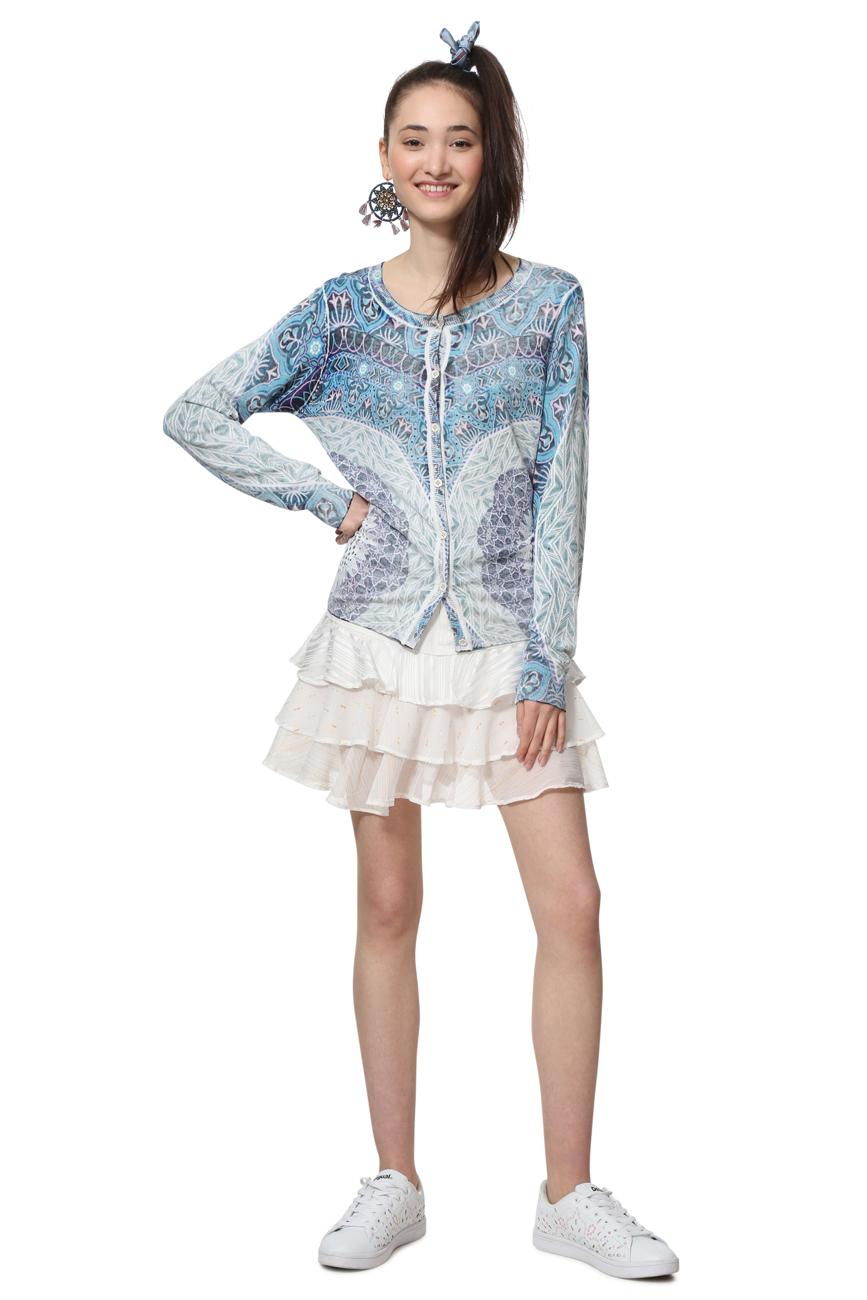 Desigual Lightweight Blue Sparkly Mandala Sora Sweater  XS-XL UK 8-16 RRP£74