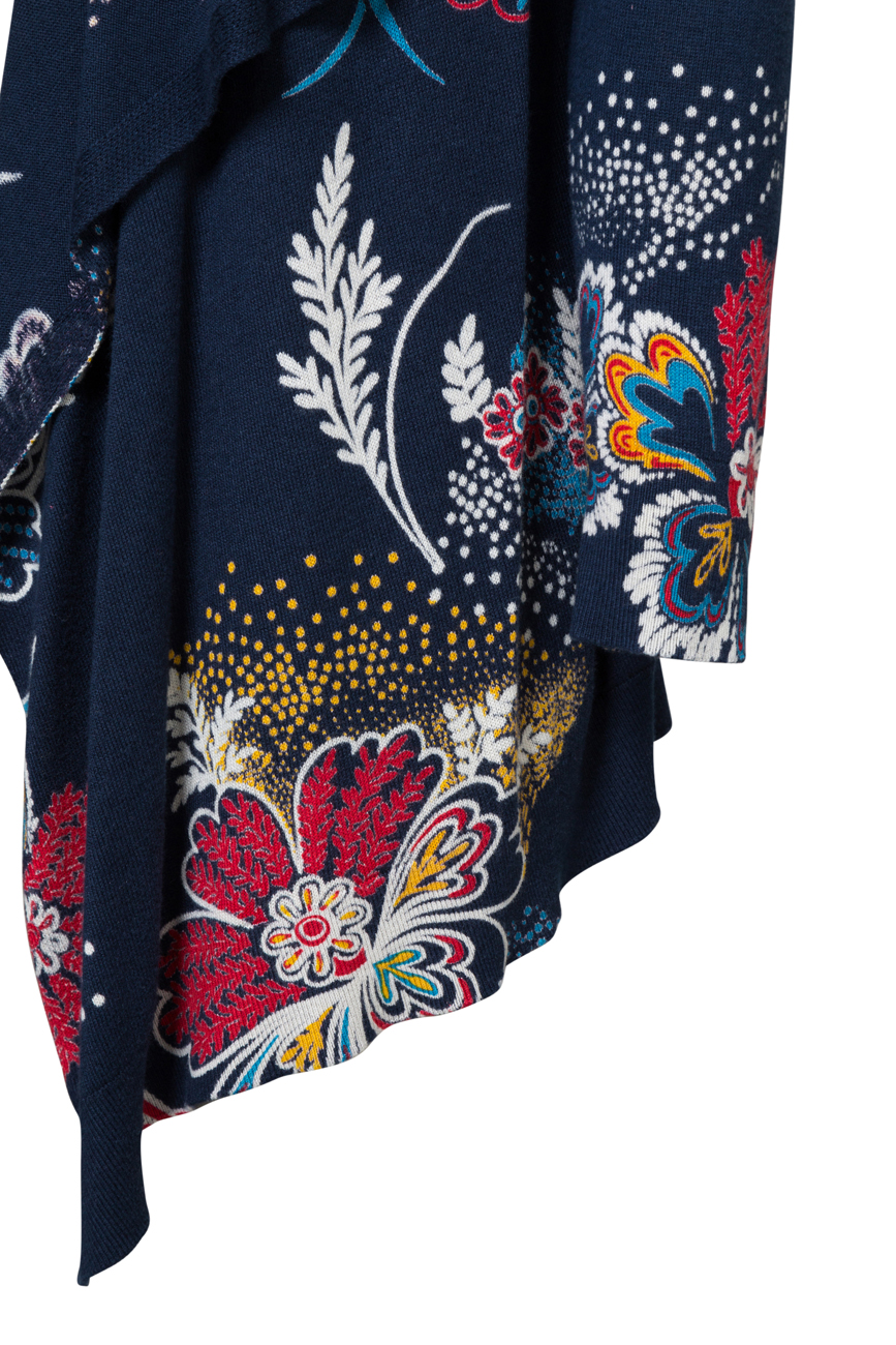Desigual Navy Blue Nerea Knit Cardigan Jacket Floral Embroidery XS-XL UK8-16 £74