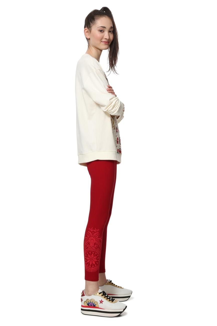 Desigual Black Velvet Pattern Side Marioti Leggings S-XL UK 10-16 RRP �34