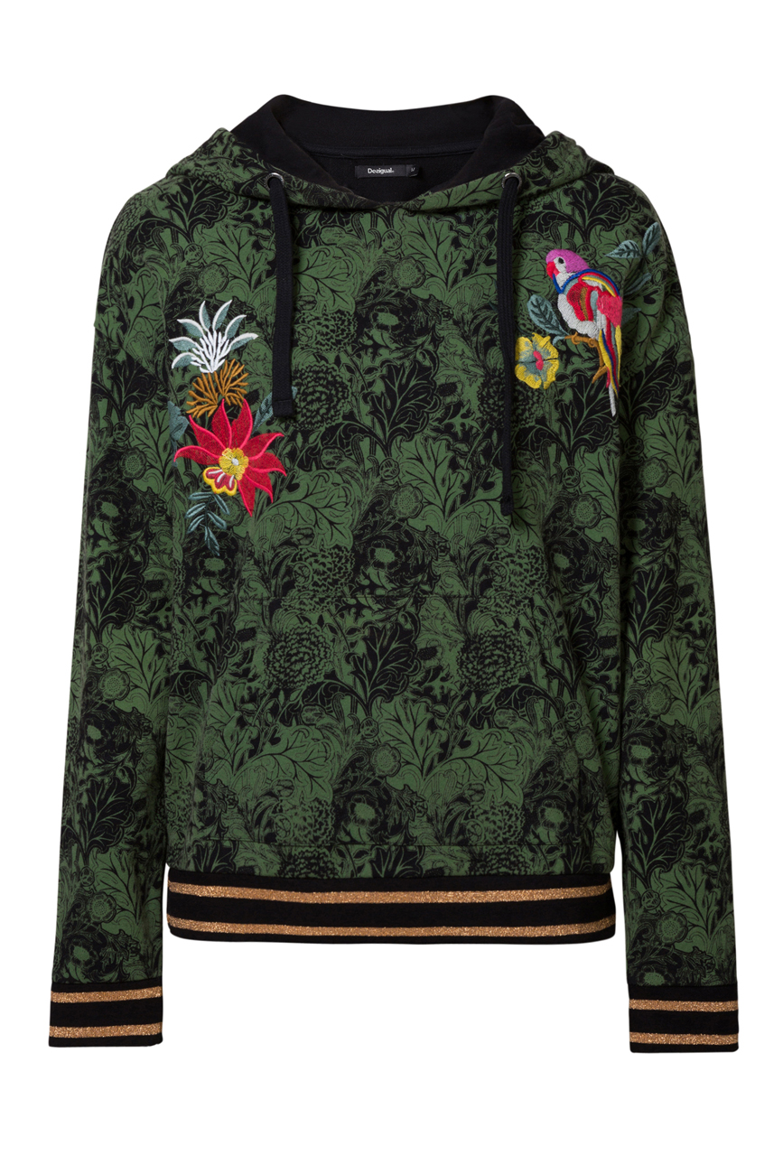 Desigual Klimt Pull Capuche Tropical Leaf /& Bird S-XL UK 10-16 RRP £ 84