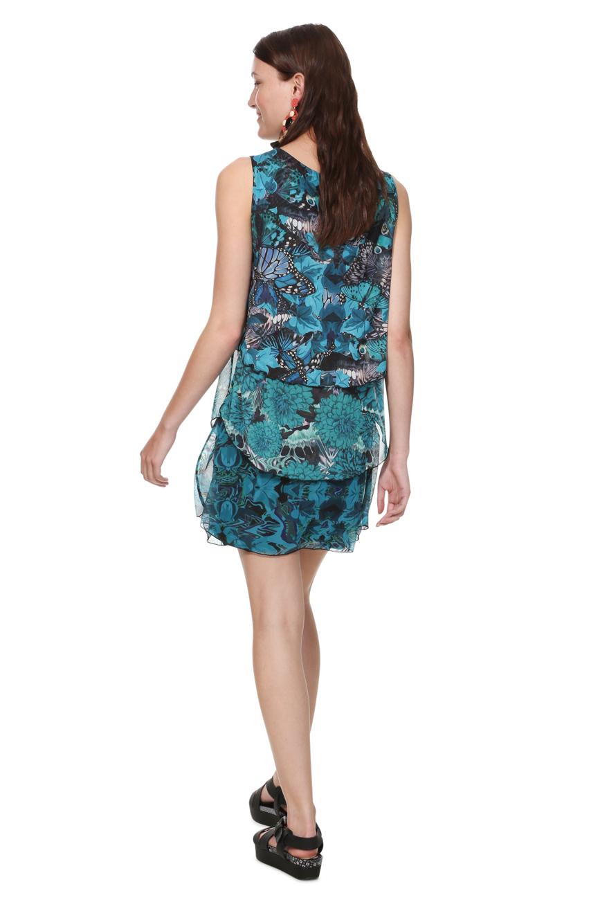 Desigual Turquoise Underwater Floaty Stretchy Rara Dress XS-XXL UK 8-18 RRP£84